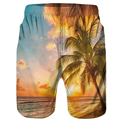 ➤Refill➤Mittellange 3D-Grafik mit grafischen Sommer-Strand-Shorts für Herren - Surfhose