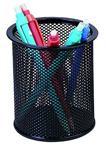 Pro range - portapenne in rete, da scrivania, colore: nero