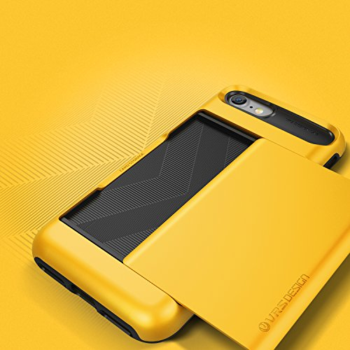 VRS Design Damda Glide Backcase Handy-Hülle | Apple iPhone 7 | Polycarbonat / TPU in Steel Silver | Schutz-Cover Smartphone-Case Indi Yellow