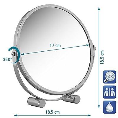 Tatkraft EOS Free Standing Swivel Shaving or Make Up Mirror d 17 cm Chrome - cheap UK light store.