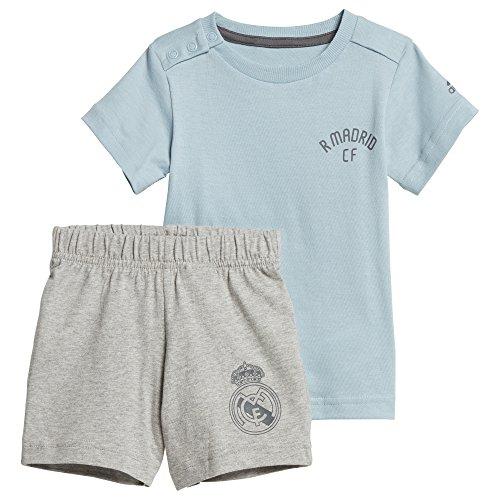adidas, Baby Mini Me Real Madrid Set Trikot mit Short, Mehrfarbig (ashgre/grefiv), 68 (3/6 Monate)