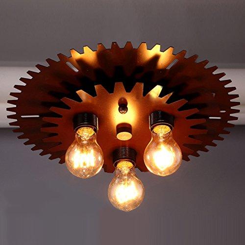 BAYCHEER Industrielampe Deckleuchte Deckenlampe 3 Flammige Lampenfassung Schmiedeeisen Lampe Kronleuchte Pendellampe - 3