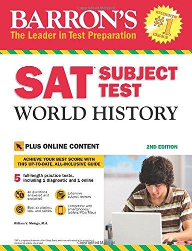 Barron's SAT Subject Test World History, 2nd Edition