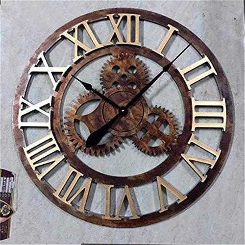 Wanduhr Eisen Jugendstil, Rusty B 70 cm Durchmesser