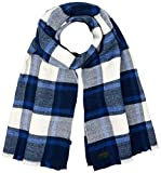 G-STAR RAW Herren Schal Originals Effo Scarf Ao, Blau (Hudson Blue/Indigo Check 9583), One Size (Herstellergröße: PC)