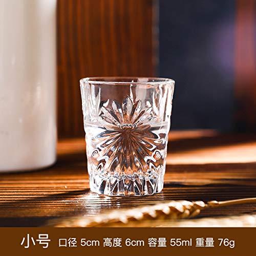 FEJK Haushalt geschnitzt Milch Saft Tasse Whisky Kristall Glas Schnaps Tasse 55ml Trompete -