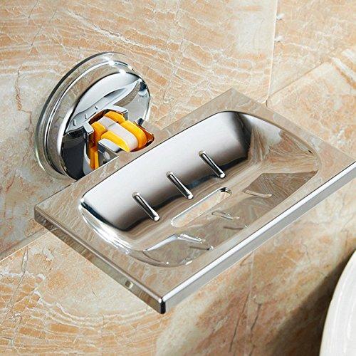 1 PC Convenient Practical Plastic Removable Soap Sucker Storage Dish Holder Press Lock Bathroom Accessories For Home Decoration