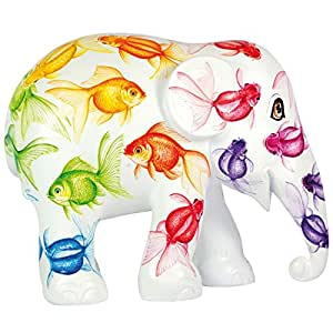 Elephant Parade Limited Edition hand painted replica Elephant - Rainbow Fish (20cm) by Elephant Parade