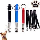 WELLXUNK Cani Fischietto,3 Pezzi Ultrasuoni Fischietti per Cani,Dog Training Whistle,per Addestramento Cani e Il Controllo delle Abbaiare