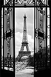 1art1 54708 Paris - Blicke Auf Den Eiffelturm Durch Jugendstil Tor, 1-Teilig Fototapete Poster-Tapete 175 x 115 cm
