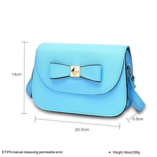 Moda farfallino colore puro baodan borsa a tracolla (colori assortiti)-Nero blu