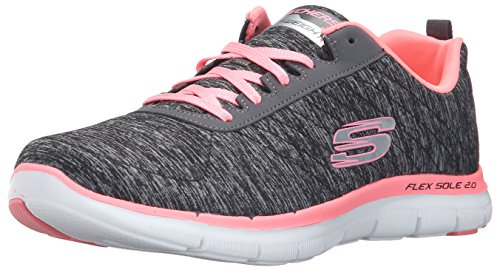Skechers Women Flex Appeal 2.0 Multisport Outdoor Shoes, Black (Bkcl), 4 UK...