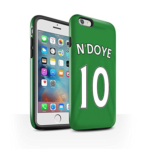 Officiel Sunderland AFC Coque / Brillant Robuste Antichoc Etui pour Apple iPhone 6+/Plus 5.5 / Pack 24pcs Design / SAFC Maillot Extérieur 15/16 Collection N'Doye