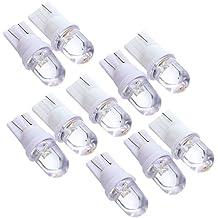 Sonline 10 X T10 A294 LED 12V Bombilla Lampara Luz con Cupula Matricula del Coche Blanco