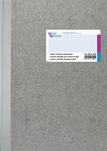 32 Spalte (König & Ebhardt 8614423 Geschäftsbuch / Spaltenbuch (A4 mit festem Kopf 1 Spalte 32 Zeilen, 80g/m², 144 Blatt Fadenheftung, mit Seitenzahl))