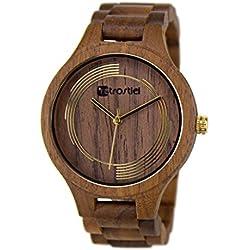 Holz Armbanduhr Cyclone Nut