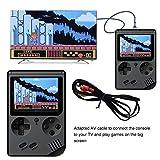 Gaddrt Spielzeug Handheld-Spieler Retro Mini-Handheld-Videospielkonsole Eingebaute 500 Klassische Spiele (Schwarz)
