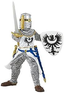 Papo- White Knight with Sword Figura, Multicolor (39946)