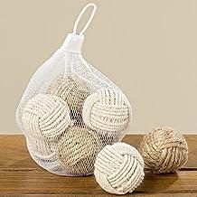 Deco Hogar Bolsa con 8 Bolas de Nudos Marineros Diferentes Colores Naturales y Neutros Diametro 4 cm