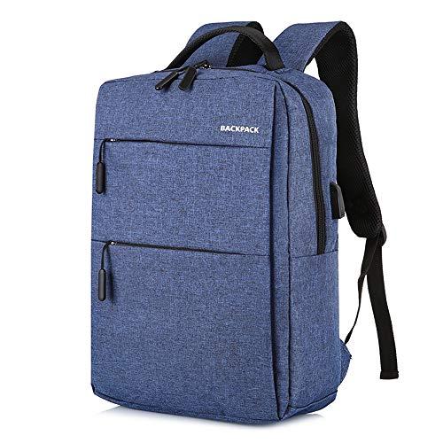 (YNPGHG 15,6-Zoll-Laptop-Rucksack, Laptop-Rucksack wasserdicht und Anti-Diebstahl-Schule/Business-Rucksäcke für Frauen & Männer,Blue)
