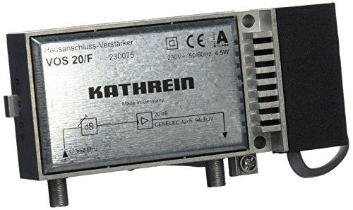 Kathrein VOS 20/F Hausanschluss-Verstärker (20 dB, 47-862 MHz, für Kabelfernsehen)