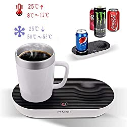 Heating & Cooling Desktop Smart Cup, V-joy® 2-in-1 Desktop Hot Cold Coffee Mug For Home Office and Personal Health Care