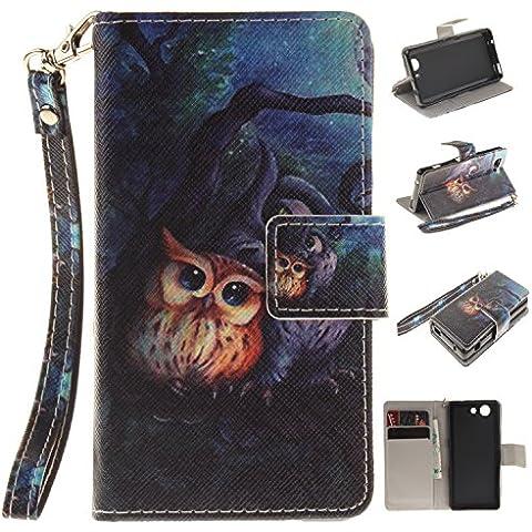 Leather Case Cover Custodia per Sony Xperia Z3 Mini(4.6) /