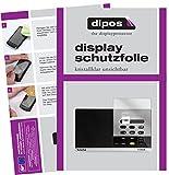 dipos I 3X Schutzfolie klar passend für TechniSat Digitradio 215 Folie Displayschutzfolie