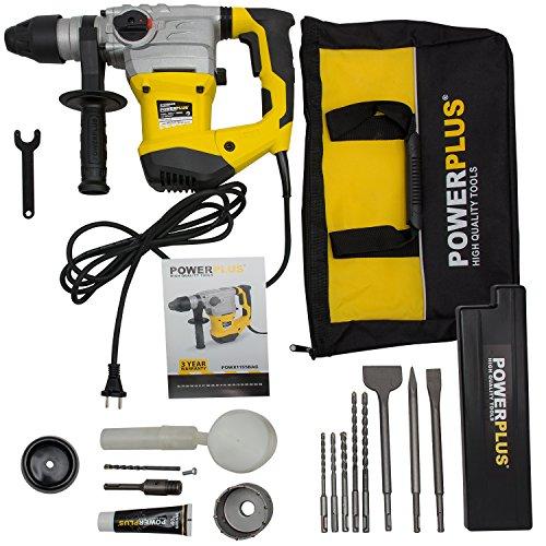 SDS-Plus-Bohrhammer 1600 W Stemmhammer Meißelhammer inkl. Zubehör, Bohrkrone, Tasche