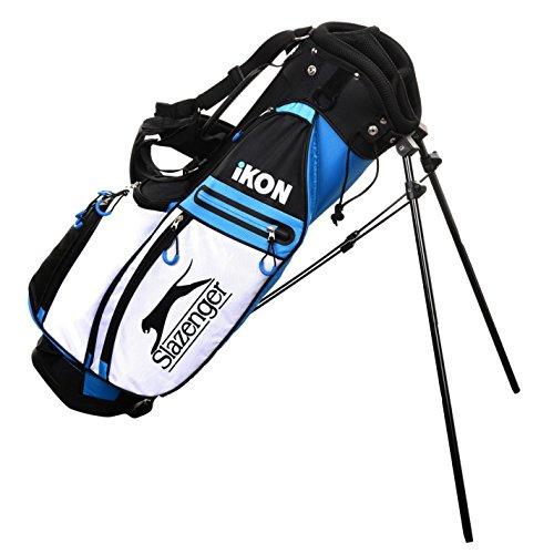 Slazenger Kinder Ikon Golftasche Standbag Schwarz/Blau Einheitsgröße