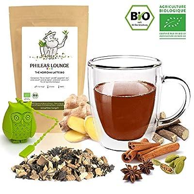 Thé noir Chai Latte Premium Bio - Thé Noir cannelle, gingembre, cardamome biologique -250g - Infuseur Chouette offert