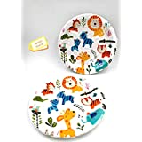 Pack of 20 Jungle or Animal Theme Paper Plates|Animal|Safari|Theme Party Supplies