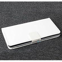 """Prevoa ® 丨Flip funda de cuero del caso del tirón para Doogee DG550 5.5"""" Smartphone - Blanco Color"""