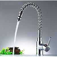 moderno stile contemporaneo di lusso rubinetti da cucina migliore commerciale moderno estrarre la maniglia singola Lavello rubinetto miscelatore lavabo Toccare Finitura cromata