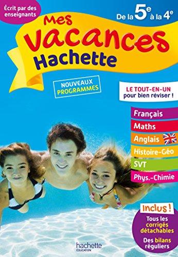 Mes vacances Hachette 5E/4E - Cahier de vacances