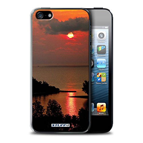 STUFF4 Phone Case / Cover for iPhone 6+/Plus 5.5 / Treeline Design / Sunset Scenery Collection Sole rosso