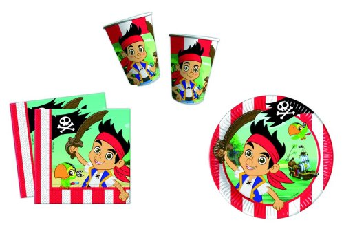 Jake & The Neverland Pirates Partygeschirr - Partyset Becher Teller Servietten