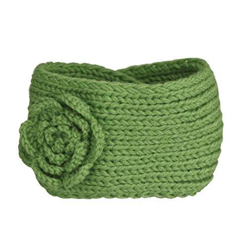 Tefamore Diademas Mujer de Punto Hairband de Moda de Flor (Tamaño: 38-44 (W) * 9cm (H), Verde)
