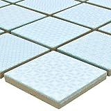 Mosaikfliesen Keramik Sapporo Hellblau Ocean | Wandfliesen | Mosaik-Fliesen | Boden-Fleisen | Fliesen-Bordüre | Ideal für den Wohnbereich, die Küche und das Badezimmer (auch als Muster erhältlich)