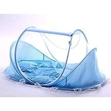 sinotop bebé Mosquito ded portátil para viajes, bebé cama plegable cuna mosquitera portátil bebé cunas para bebé 0–18meses (rosa)