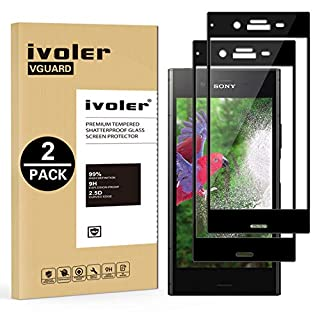 iVoler [2 Stücke] Panzerglas Schutzfolie für Sony Xperia XZ1, [Volle Bedeckung] Panzerglasfolie foliefolie Hartglas Gehärtetem Glas DisplayPanzerglas
