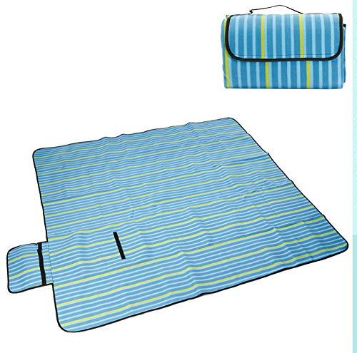 Rziioo Picknickdecke 200 X 200 cm Wasserdicht, Portable Faltende Sandproof Strandmatte Für Familienurlaub BBQ Camping Outdoor,C