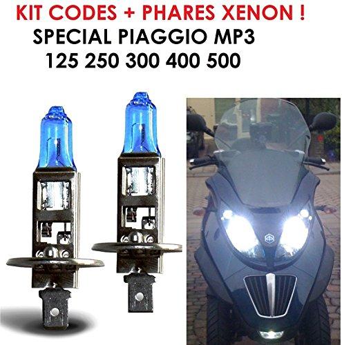 Special Piaggio MP3. La potenza del xeno per semplice cambiamento di lampadina. Kit Xenon H1100W. Raid Preparation 4x 4