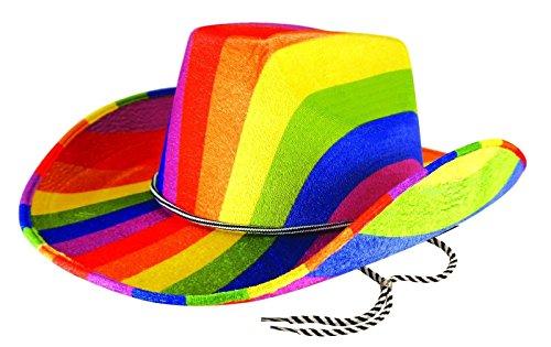 wachsene Rainbow Cowboy Filzhut Herren Gay Pride Karneval Kost�m Kost�m Hut Einheitsgr��e ()