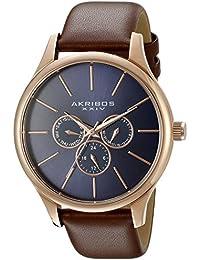 Akribos XXIV AK870RGBU - Reloj de cuarzo para hombres, color marrón