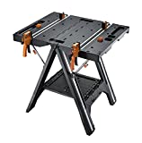 WORX WX051 Pegasus Multi-Function Work Table and Sawhorse with Quick Clamps and Holding