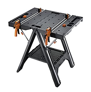 WORX WX051 Pegasus Multifunction Work Table and Sawhorse with Quick Clamps and Holding Pegs, Black (B0716B88KY) | Amazon price tracker / tracking, Amazon price history charts, Amazon price watches, Amazon price drop alerts