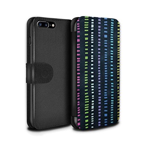 Stuff4 Coque/Etui/Housse Cuir PU Case/Cover pour Apple iPhone 6S / Motif de Corail Design / Textiles Maison Collection Bleu Marin/Couleur