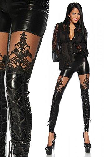 Leggins sensuales estilo gótico