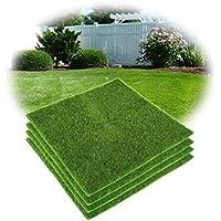 Yosoo Artificial Grass Mat, Plastic Lawn Grass Indoor&Outdoor Green Synthetic Turf Micro Landscape Ornament Home Decor (30cm*30cm)